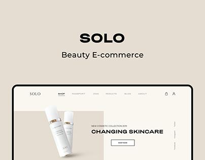 Solo - Beauty E-commerce website