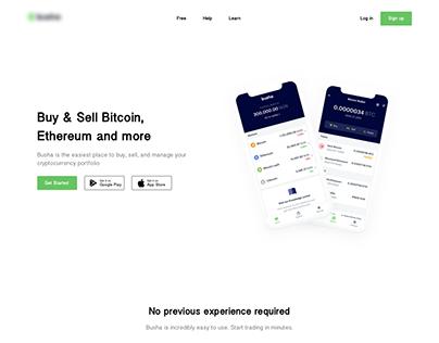 Digital Currency Market Landing Page Design