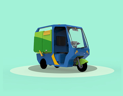 BBERES E-trike for separated waste collection