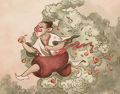 Sun Wukong. Illustrations for Suzie Wong Bar. Vol I