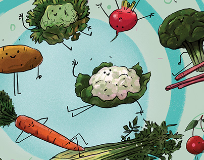 Veggies for a children's book project