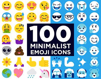 100 Minimalist Emoji Icons