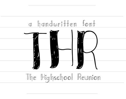 THR - A Handwritten Font Preview
