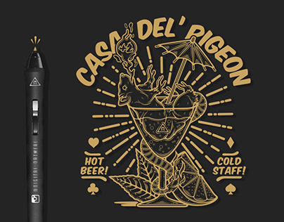 Casa Del' Pigeon - Tee Design - Plus 2 Clothing