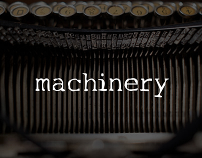 Machinery font