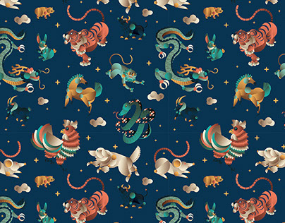 Hey chinese zodiac - Illustration & Pattern