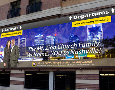 Billboard Design: Mt. Zion Baptist Church, Nashville