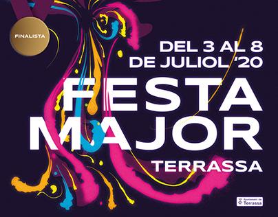 Cartel Festa Major Terrassa 2020 - Finalista