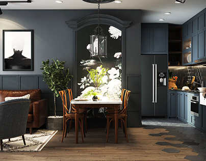 Blue Livingroom