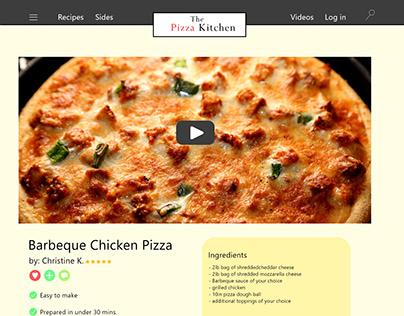 The Pizza Kitchen homepage