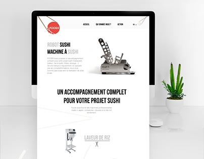 Site web design/ Distributeur matériel de sushi