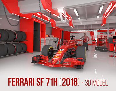 Ferrari F1 car - SF71 H (2018) - 3D model