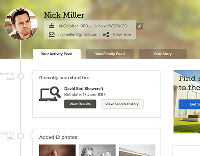 FamilySearch Logged In Homepage
