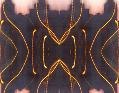 Crossed streams of light
