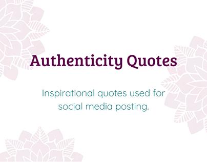 Authenticity Quote Cards   Michelle Beltran