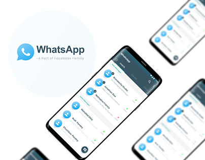 WhatsApp ReDesign Case Study : Adobe XD Free UI Kit
