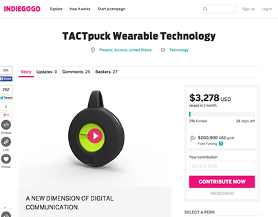 TACTspace Indiegogo Campaign