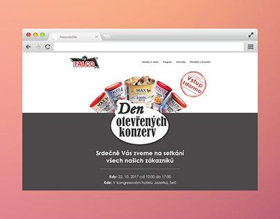 Webdesign (onepage) - Den otevřených konzerv