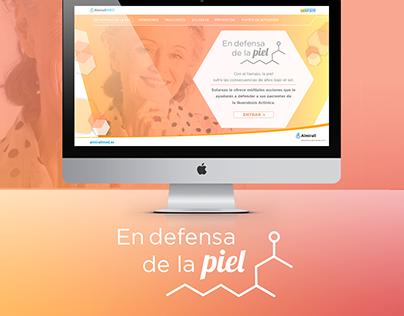 En Defensa de la Piel. Website