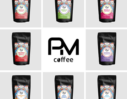 Logo and label design for coffee