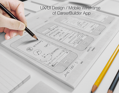 User Experience Journey created for Mobile App