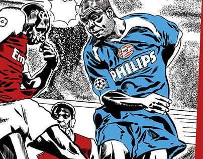 PSV Eindhoven - Wall of fame - Muurtekening