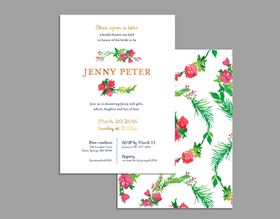 Bridal shower stationery