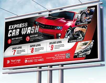 Car Wash Billboard Template