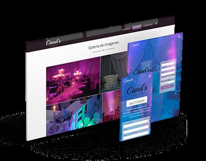Diseño Web - Cand's Eventos