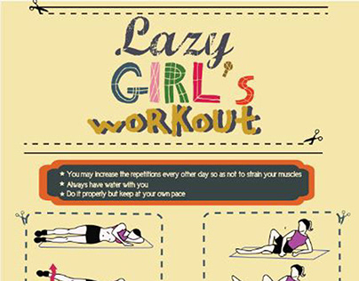 Infographics Lazy Girls Workout