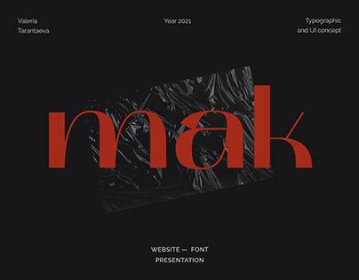 MAK — website font presentation