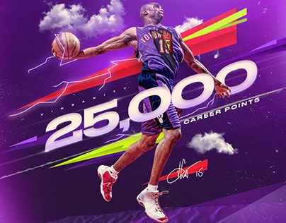 Vince Carter 25,000 Points