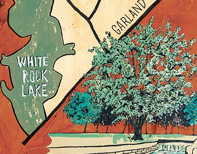 Map Illustration Lake Highlands