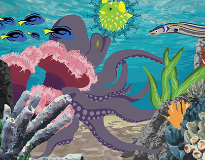 Octopus Garden Digital Illustration