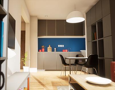 2018 | One-bedroom Apartament – Interior & Video