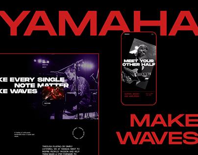 YAMAHA — Website Redesign