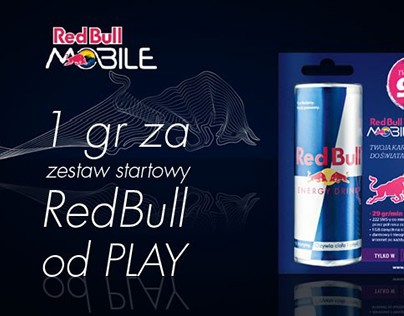 Mailing/banner promoting Red Bull Mobile