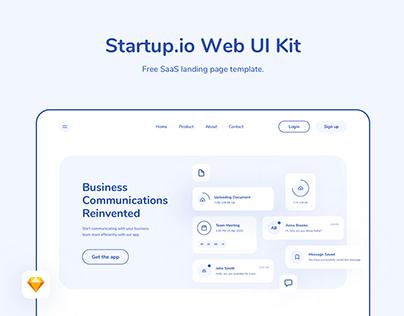Startup.io - SaaS Website Landing Page Design