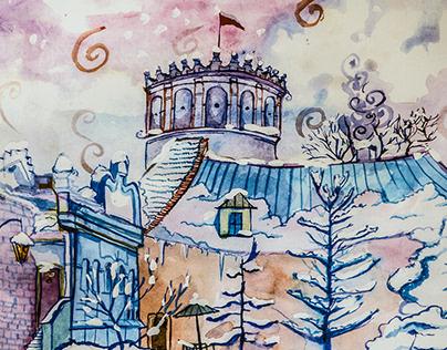 Kalendarz akwarelowy - miasto Przemyśl