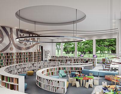 Islamic Culture Center Library interior Design