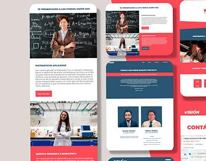 Página Web Visión