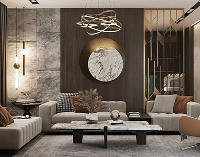 Design and Visualization of living room and kitchen
