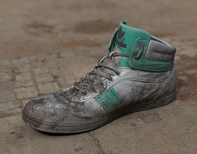 Dirty Worn Shoes: Sketchfab Texturing Challenge Entry