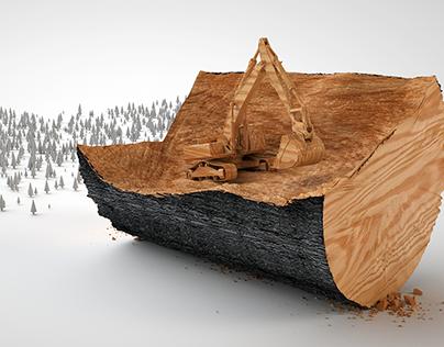 Concept Art CGI for Swedish bio-refinery company