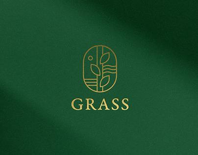 Grass restaurant. Branding. Menu