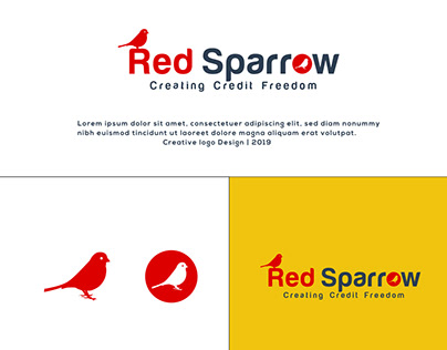 Red Sparrow Logo Design