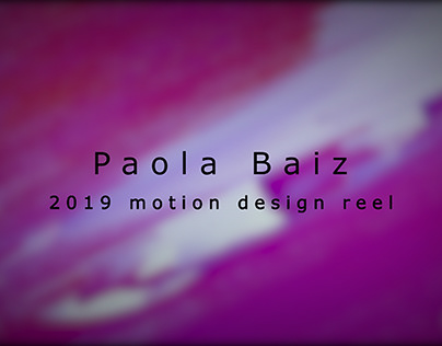 2019 motion design reel