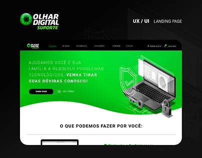 Landing Page: Olhar Digital Suporte