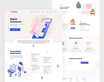 Digital Retail Landing Page