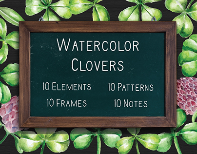 Watercolor Clovers